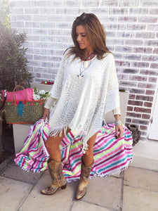Winter white Poncho