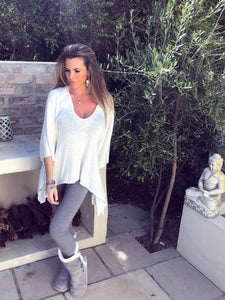 White knit Boho Top