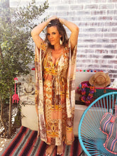 Indian Print Full length Kaftan