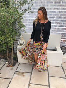 Ibiza style colourful Gypsy Skirt