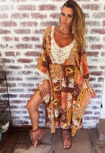 Indian Print Gypsy Dress