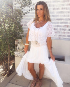 White chiffon Gypsy skirt