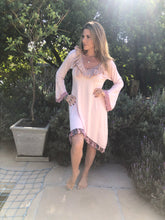 Dusty pink Boho dress