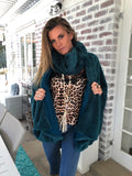 Forest / Emerald green fur poncho