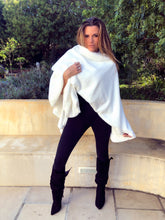 Winter white fur poncho