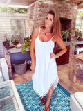 White Asymmetrical Summer dress