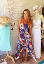 Floral viscose full length Boho dress