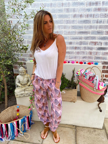 Lightweight floral pants