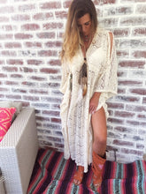 Cream lace Kaftan