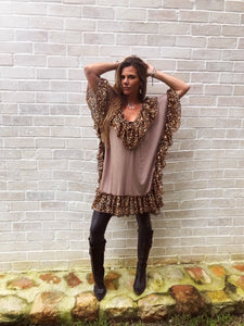 Poncho Ruffle Top/Dress