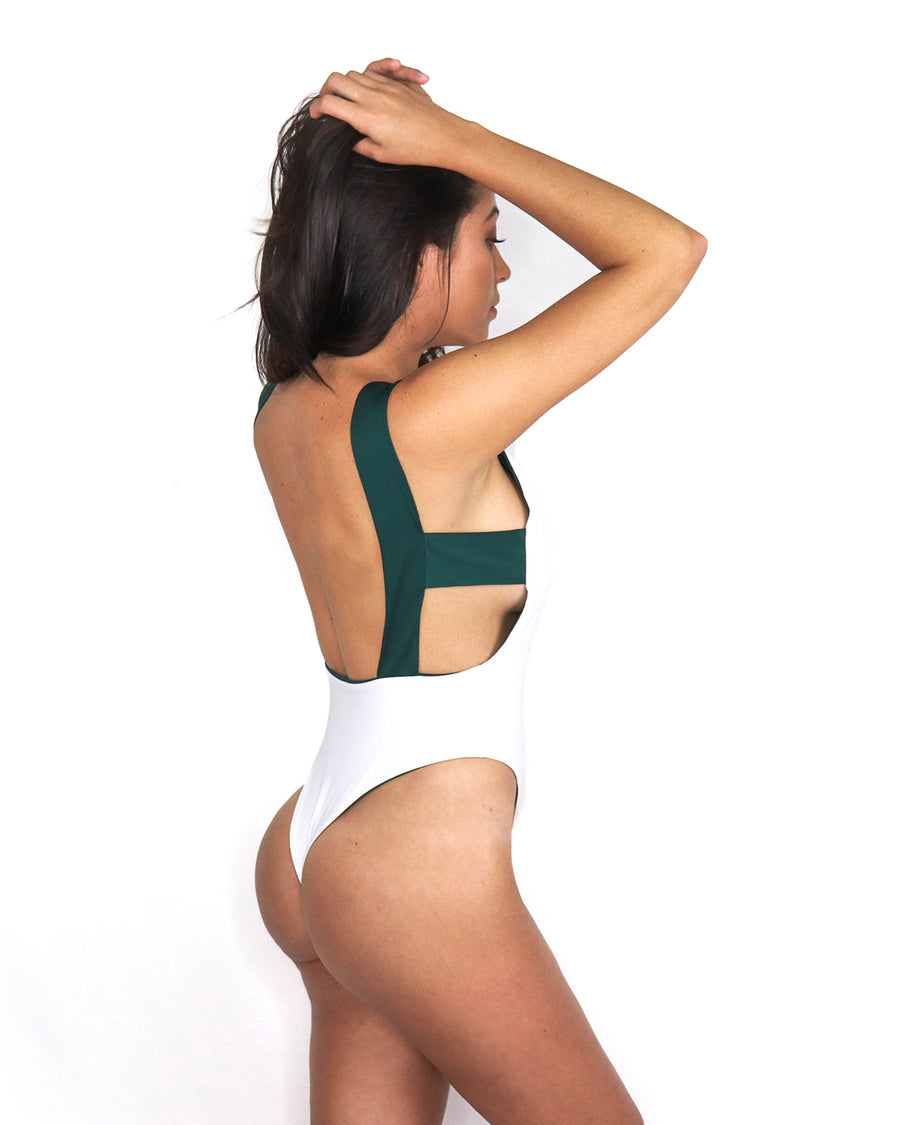 Kuta One Piece // Teal-White