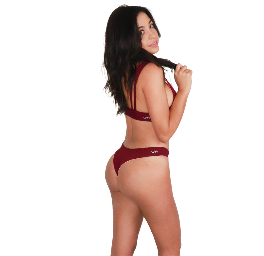 Kata Bottom // Coral-Burgundy
