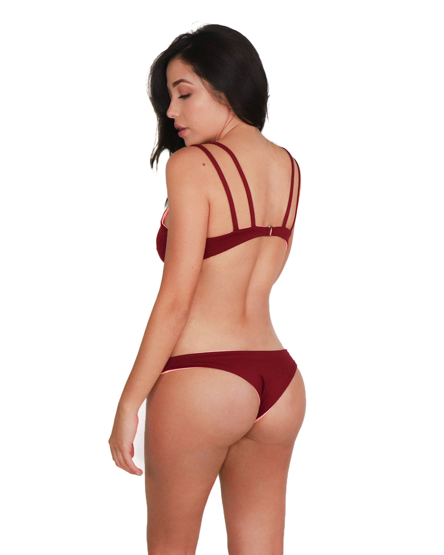 Samui Top // Coral-Burgundy