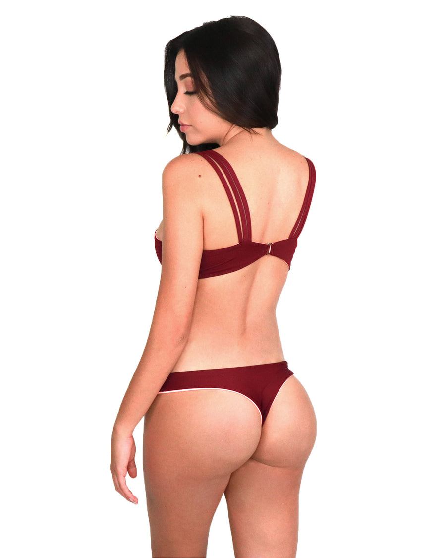 Uluwatu Top // Coral-Burgundy