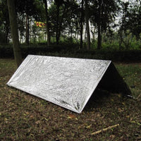 2 Persons Tube Tent Emergency Survival Hiking Camping Shelter Outdoor Portable Emergency Blankets For Hiking #E0