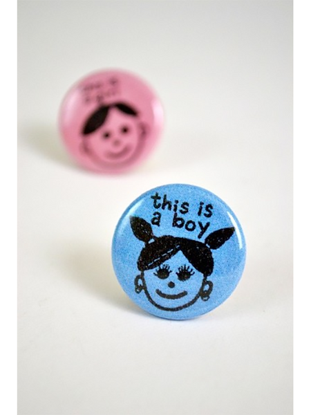 This Is A Boy Button
