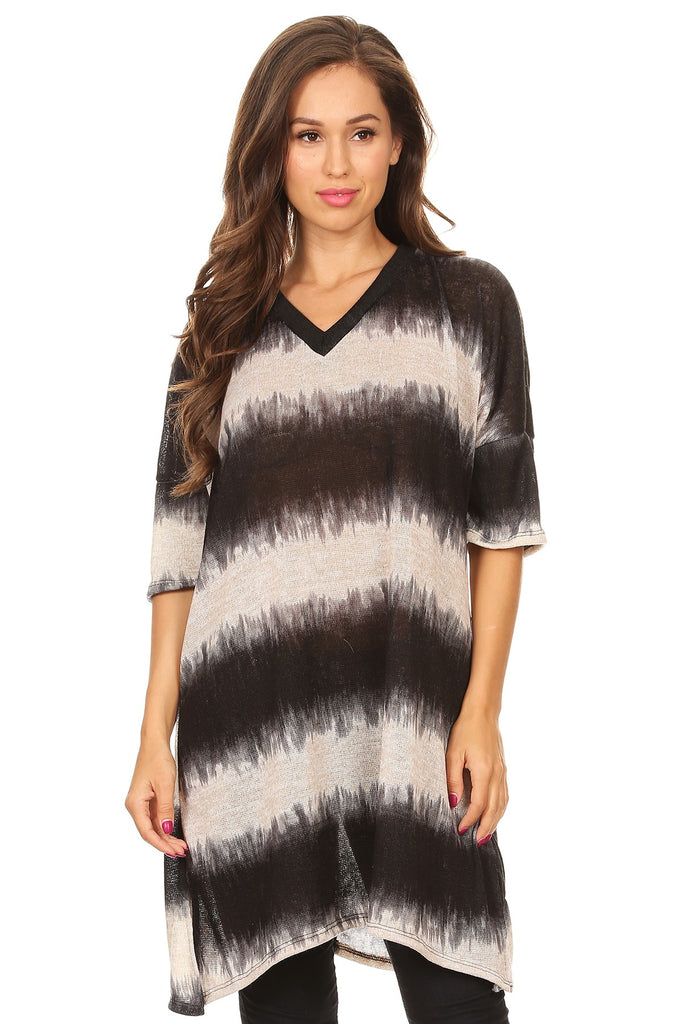 Striped Dolman Tunic- Various Colors