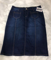 Kinsley's Dark Jean Skirt