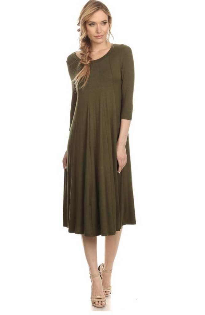 Everyone's Favorite Dress - Olive