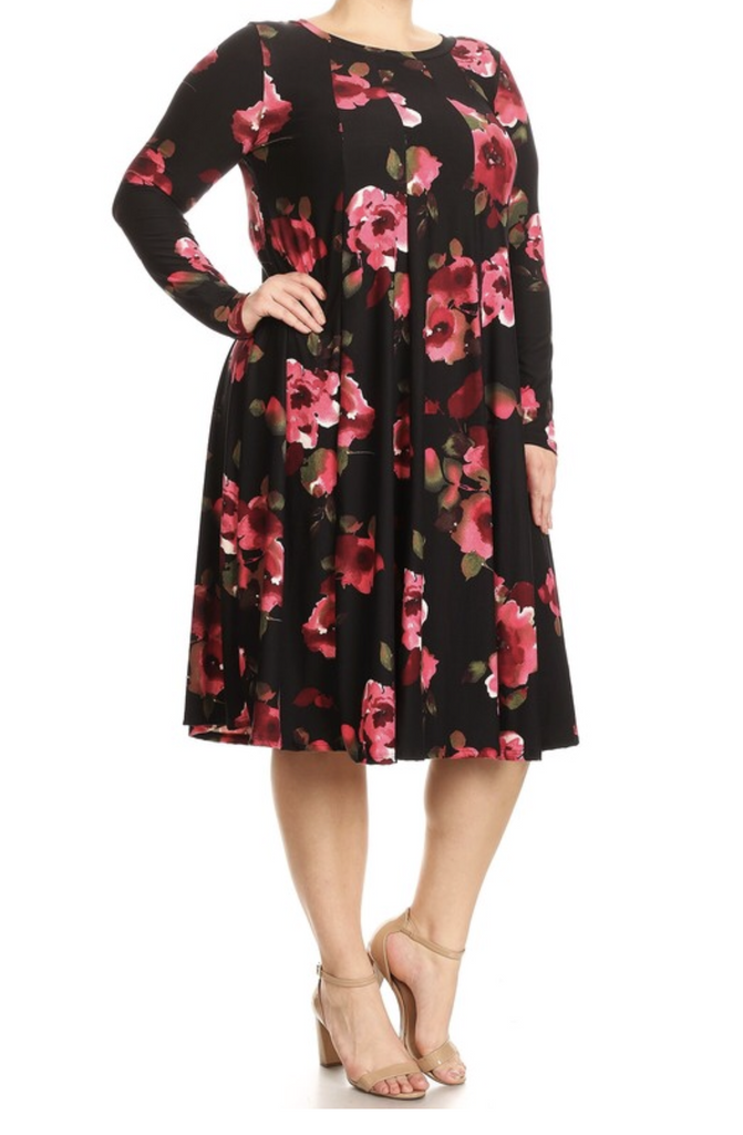 Everyone's Favorite Dress- Floral (Black)