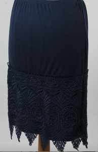 Stunning Lace Navy Extender