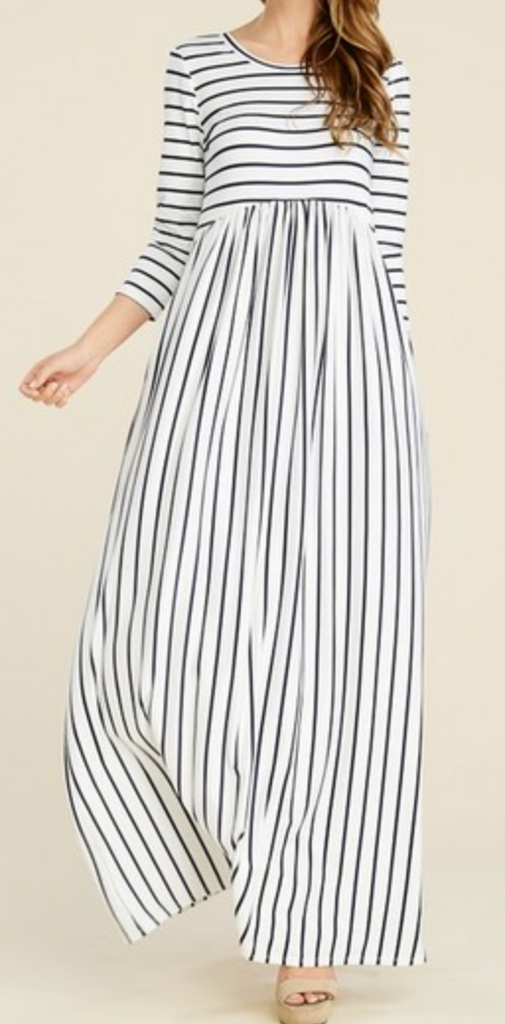 Wine Stripe Maxi