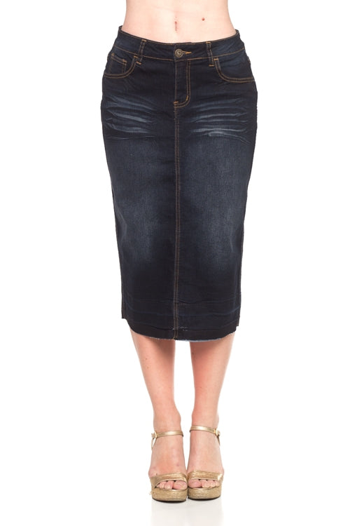 Bonnie Black Jean Skirt