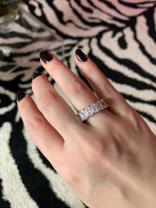 Platinum Ice Eternity Band