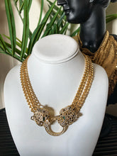 Vintage Kenneth Jay Lane Pave Panther Necklace