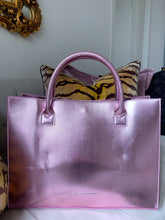 I SPEAK FRENCH Pink Vegan Leather Tote