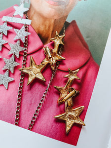 Vintage Kenneth Jay Lane Star Climber Earrings