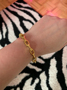 Kenneth Jay Lane Gold Links Bangle