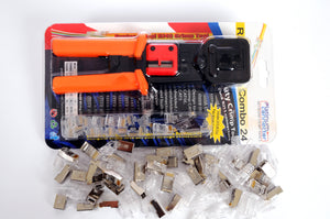 RJ45 8P8C CAT6 24 pieces with Crimp tool combo sets