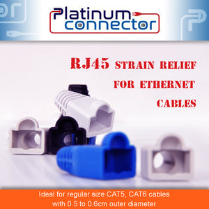 Regular RJ45 Strain Relief for Ethernet Cables