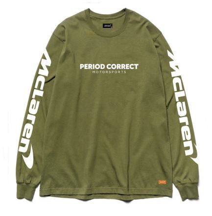 Period Correct X McLaren Long Sleeve T-Shirt - Army Green