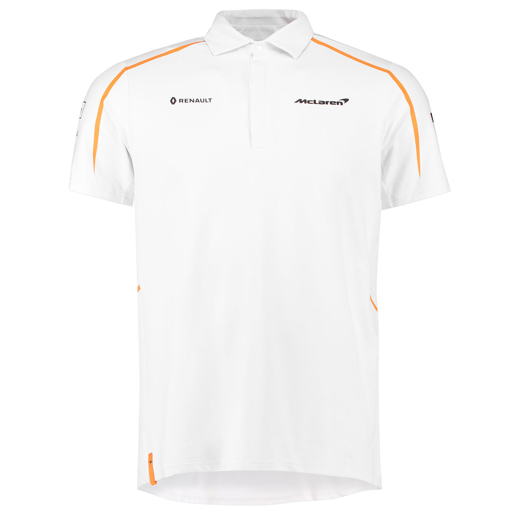 2018 Team White Polo T-Shirt