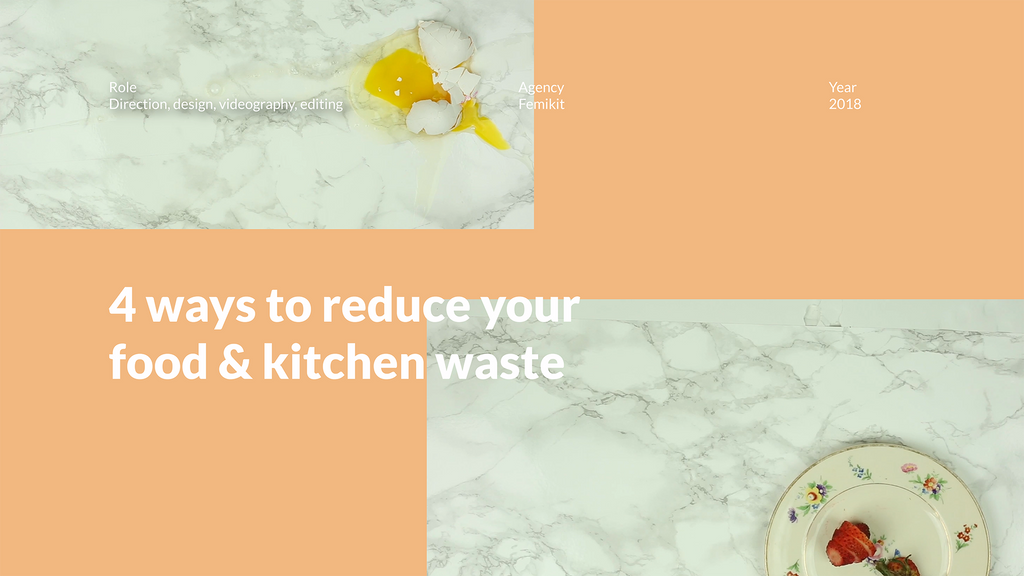 Reduce your food and kitchen waste video design process - Femikit
