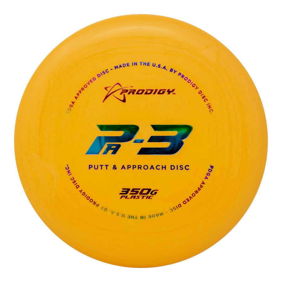 Prodigy PA-3 Putt & Approach Disc - 350G Plastic - 5 or 10 Disc Bundle