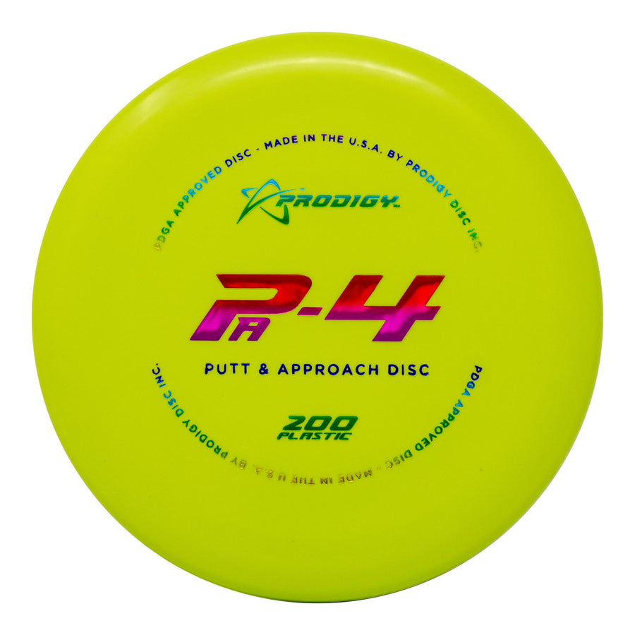 Prodigy PA-4 Putt & Approach Disc - 200 Plastic