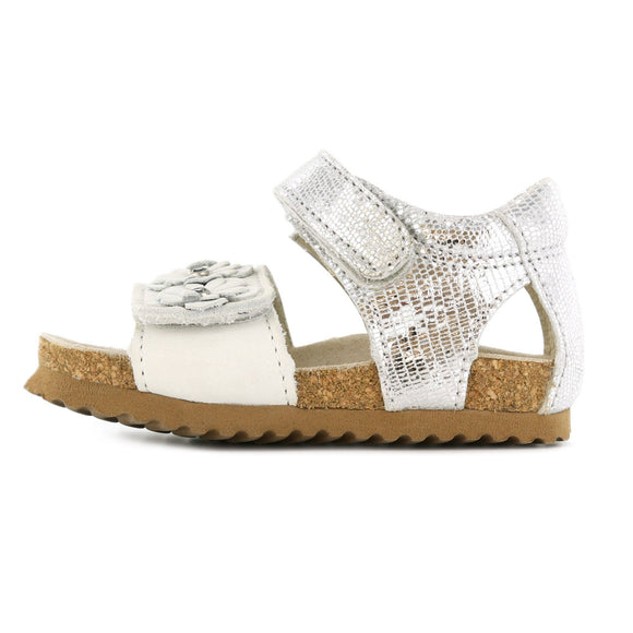 Bio Sandal Natural White & Silver
