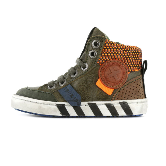 Urban Hi-Top Trainer in Construction Green