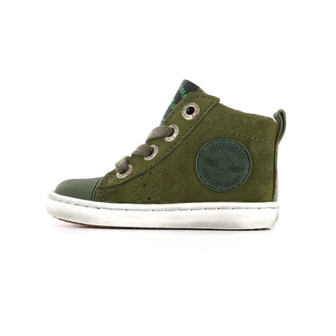 Urban Hi-Top Trainer in Green