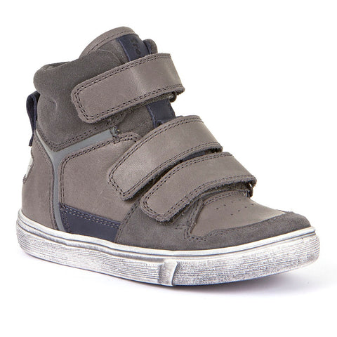 Grey & Blue Velcro Sneaker Boot