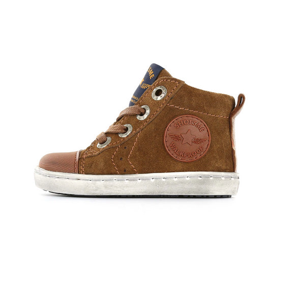 Urban Hi-Top Trainer in Cognac