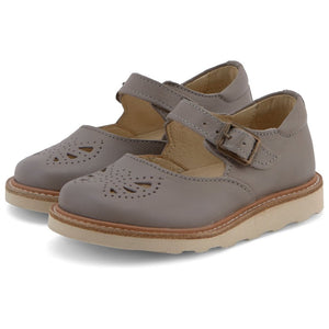 Bow Mary-Janes in Cloud Grey