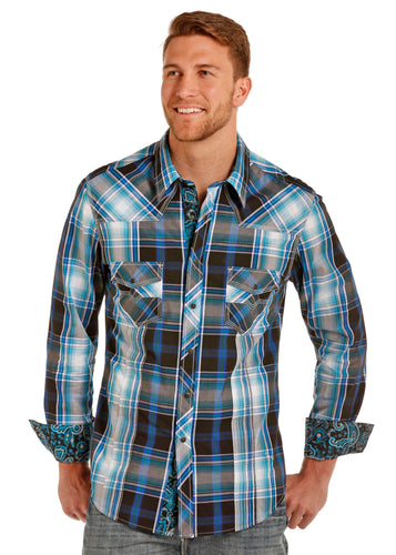 Rock&Roll - Yarndye Plaid Snap Shirt