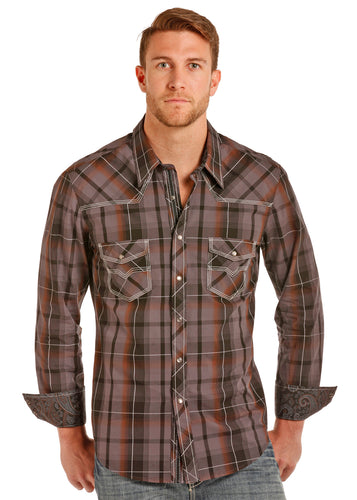 Rock&Roll - Yarndye Poplin Plaid Snap Shirt