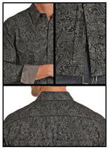 Rock&Roll - Black Spray Washed Paisley