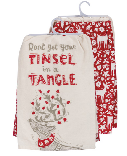 Tinsel Tangle Dish Towel Set