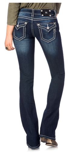 Miss Me - Loose Saddle Stitch Bootcut Jeans